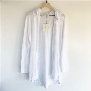 🎉2/$25🎉 Cynthia Rowley Hooded White Cardigan